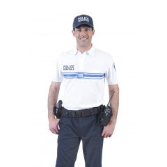 POLO BLANC POLICE MUNICIPALE DRY-TEC® MANCHES COURTES